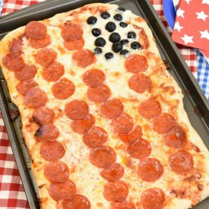 American Flag Pizza Frozen Dough