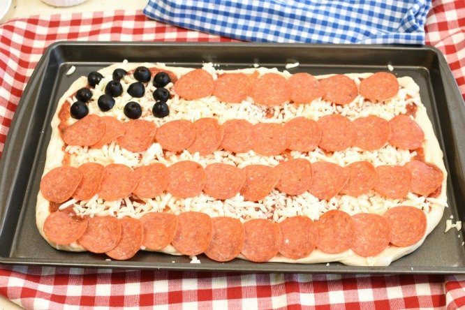 American Flag Pizza stars and stripes