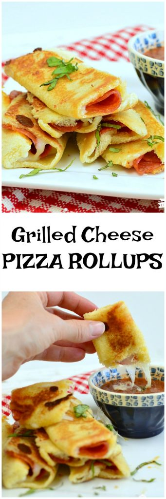 Grilled Cheese Pizza Rollups only take 4 simple ingredients and a few minutes to make. Kids love to help make these as much as they love to eat them! #easy www.littledairyontheprairie.com