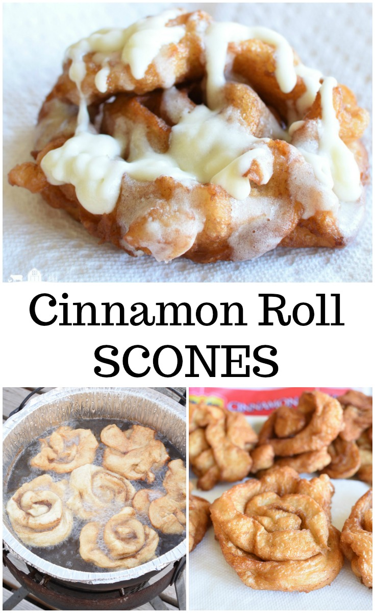 Cinnamon Roll Scones Fluffy Easy to make Perfect for Camping #Rhodes #FrozenDough #ad