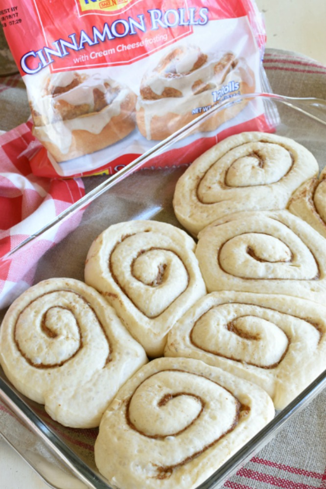 Cinnamon Roll Scones- semi homemade