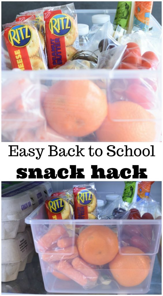 Easy Back To School Snack Hack Prep once and snacks are ready the rest of the week. Helps give the kids choices mom's are okay with. Great for on the go snacking too. #RITZFIlledBackToSchool