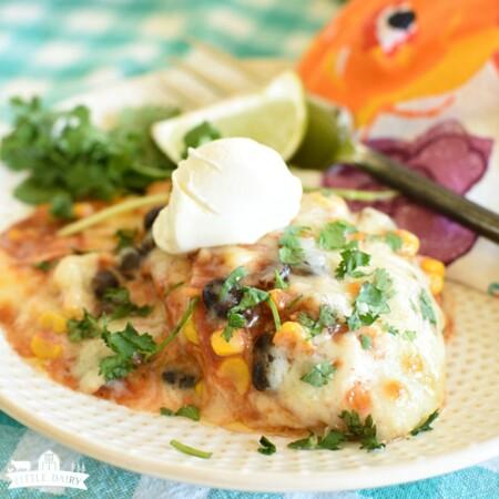 Easy Chicken Enchilada Casserole - Mexican Style Casserole