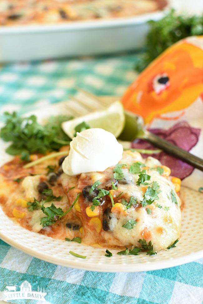 Easy Chicken Enchilada Casserole - Simple Weeknight Dinner