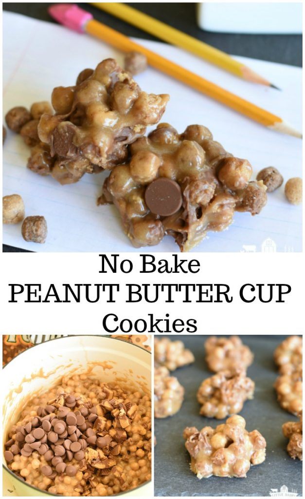 No Bake Peanut Butter Cup Cookies few ingredients quick and easy recipe #ad #CollectiveBias