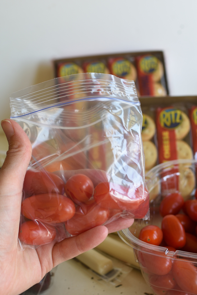 Easy Back to School Snack Hack - prepare once for the whole week