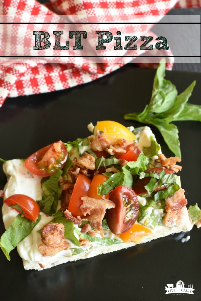 BLT Pizza - A fun twist on BLTs and pizza 2