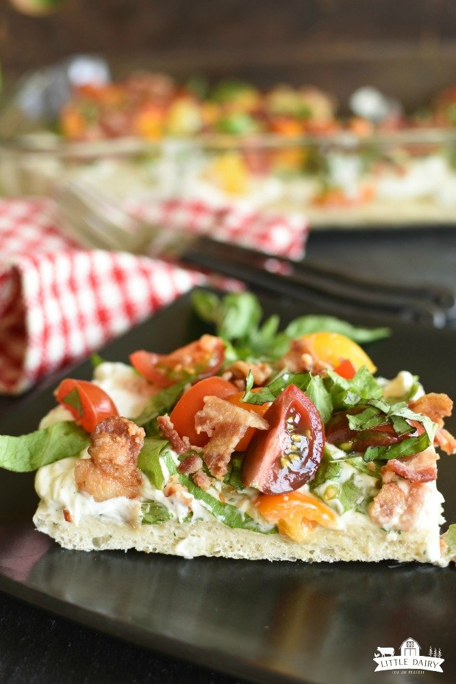 BLT Pizza - Everything you love about BLT in cold pizza form