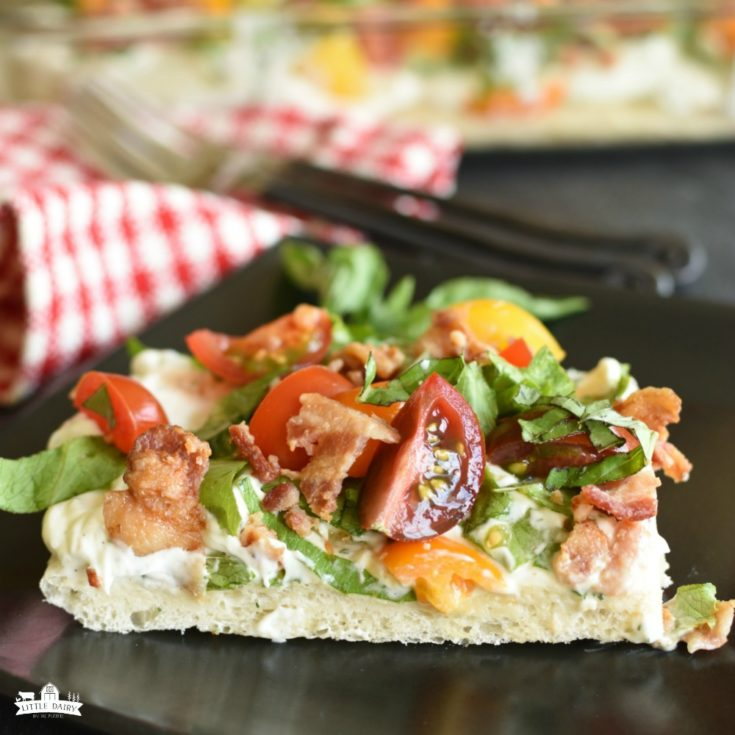 BLT Pizza {Appetizer or Lunch}