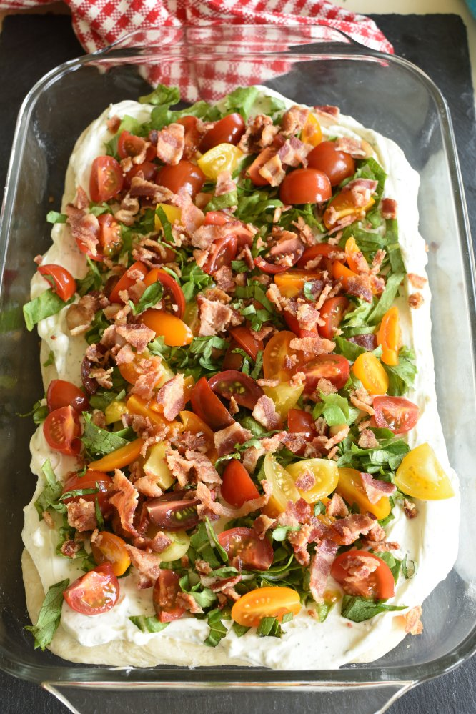 BLT Pizza - of course add bacon