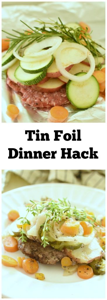 Check out my Tin Foil Dinner Hack if you never want to eat a burned, unevenly cooked, or dry tin foil dinner again!