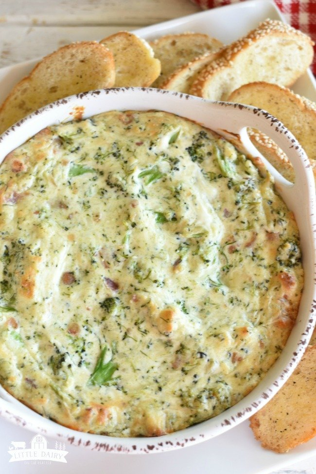 Cheesy Broccoli and Bacon Dip - a dreamy finger food