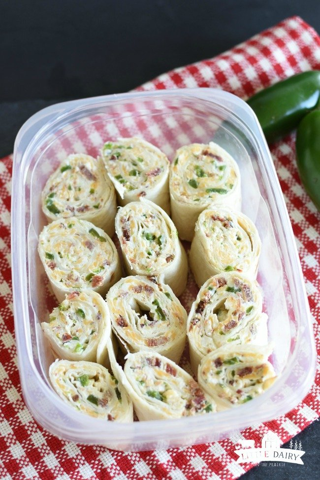 Jalepeno Popper Rollups-make ahead