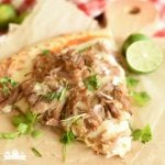 Pork Carnitas Pizza {about a 30 minute meal}