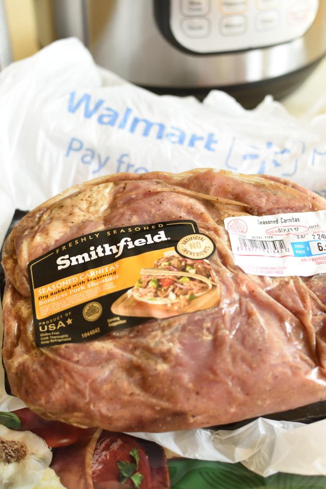 Canitas Pizza - preseasoned Smithfield pork