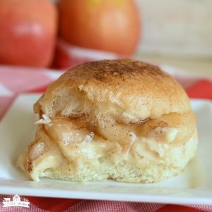 Caramel Apple Cheesecake Sliders - featured image