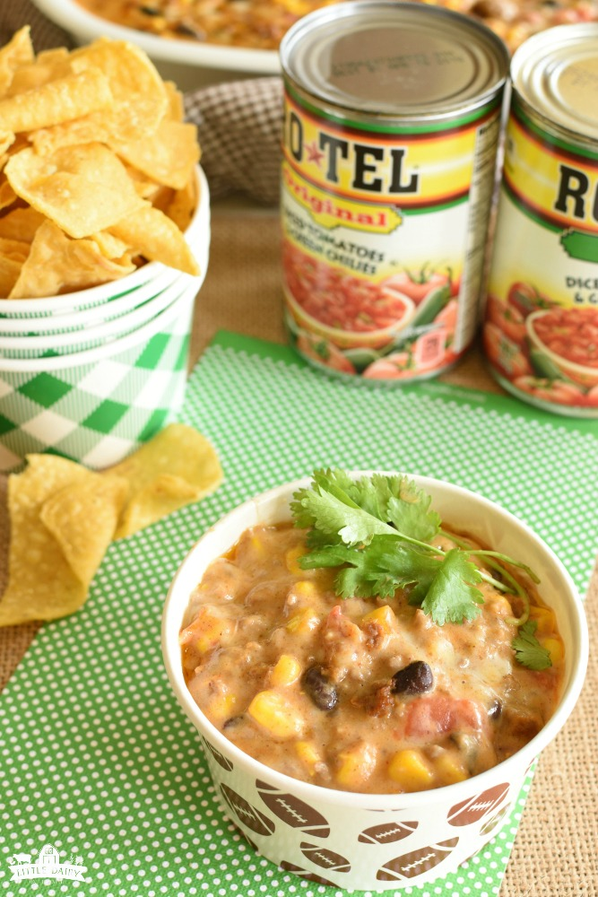 Fiesta Mexican Dip- yummy appetizer for tailgating