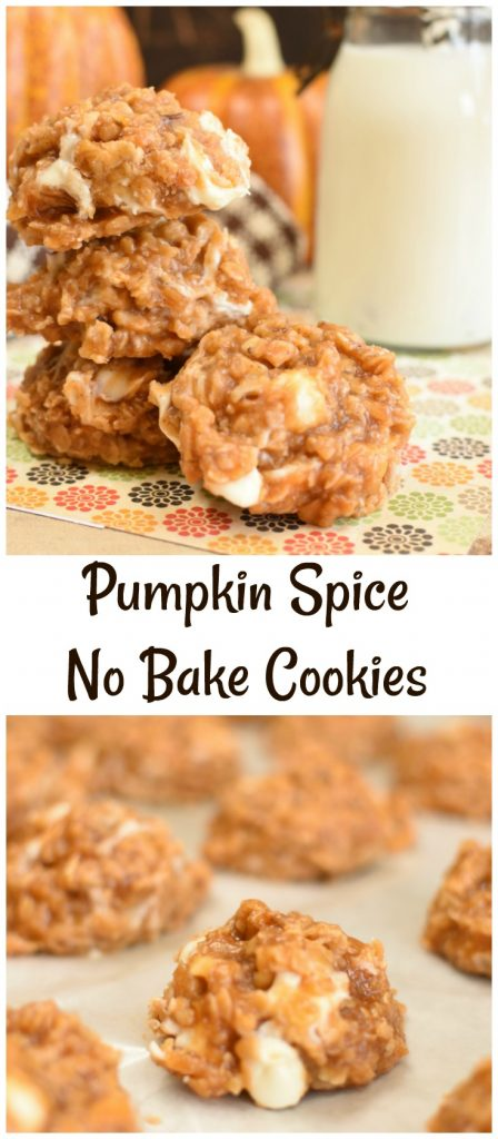 Pumpkin Spice No Bake Cookies have all the cozy flavors of fall wrapped up in one quick and easy cookie!
