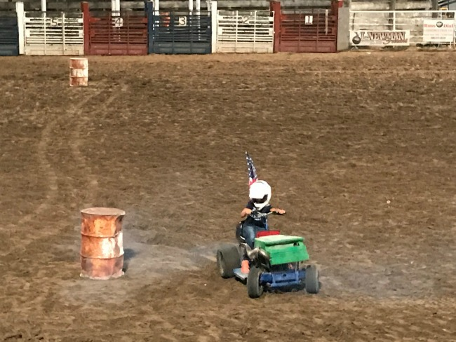 Small Town County Fair - Lawn Mower Races