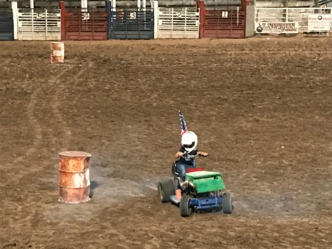 Small Town County Fair - Lawn Mower Races