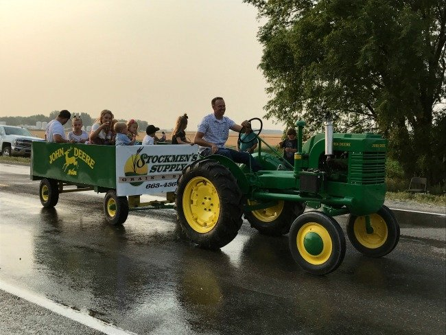 Small Town County Fair - business at the parade