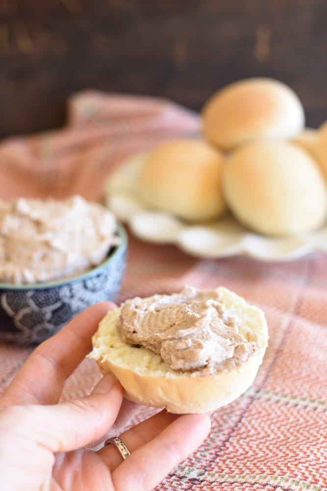 Whipped Cinnamon Butter- serve on rolls