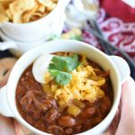 Pulled Pork Chili Recipe {Slow Cooker}