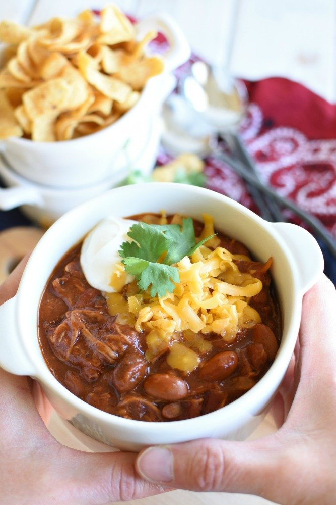 Cowboy Pulled Pork Chili - warms you up from the inside out!