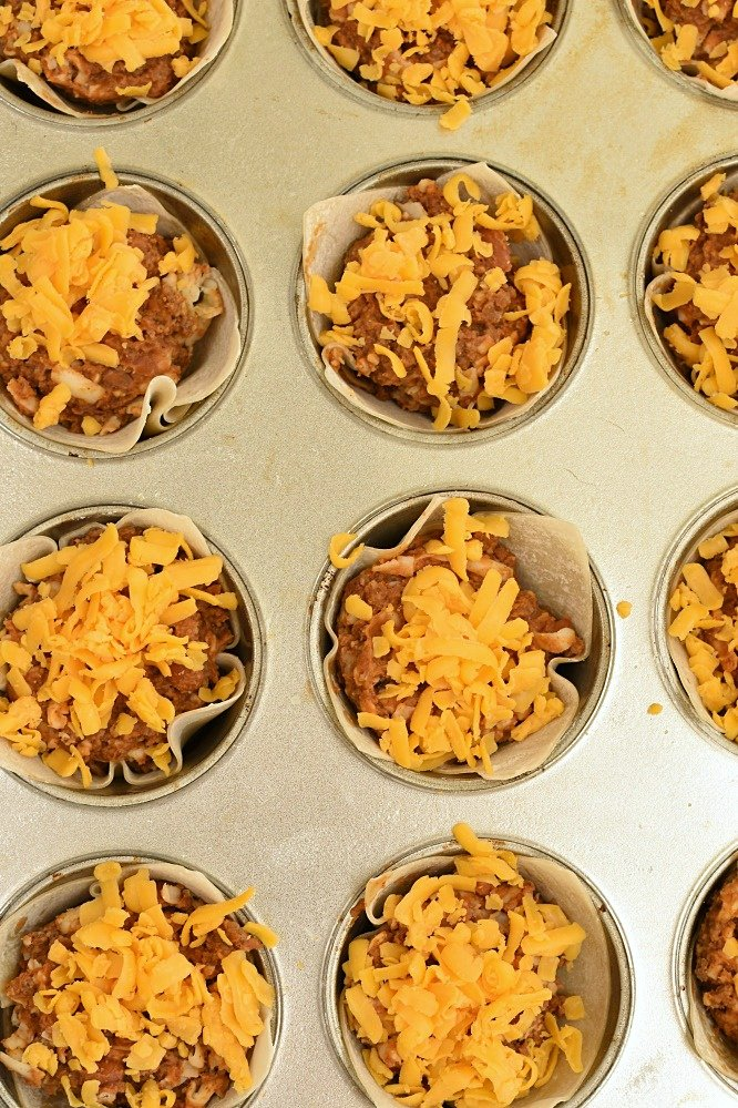 Wonton Burrito Cups - an easy recipe
