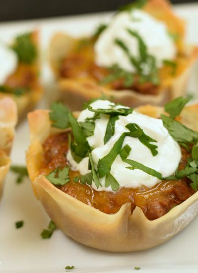 Wonton Burrito Cups - featured image