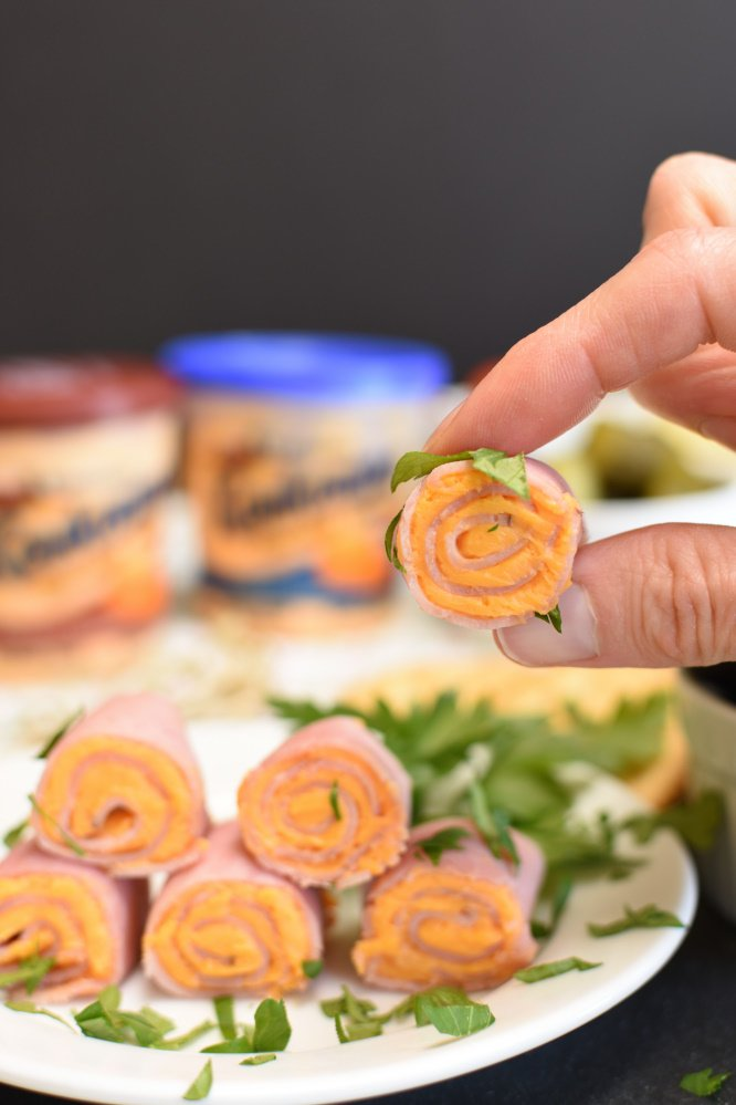 Easy Ham and Cheese Roll-Ups - finger food