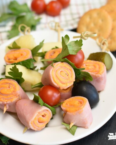 Easy Ham and Cheese Roll-Ups - real cheese