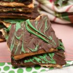 Mint Christmas Crack {Saltine Cracker Toffee}