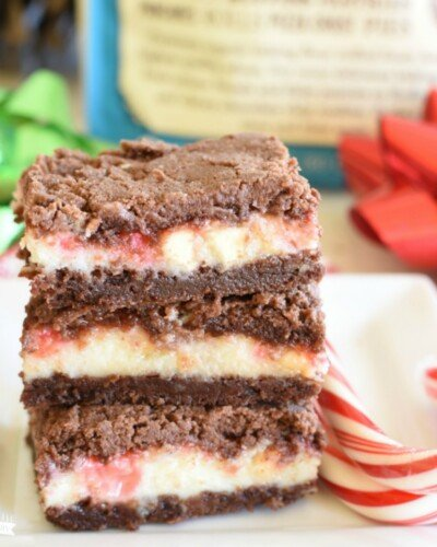 Peppermint Bark Chocolate Steusel Bars- featured image
