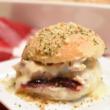 Turkey Cranberry Sliders - thanksgiving leftovers