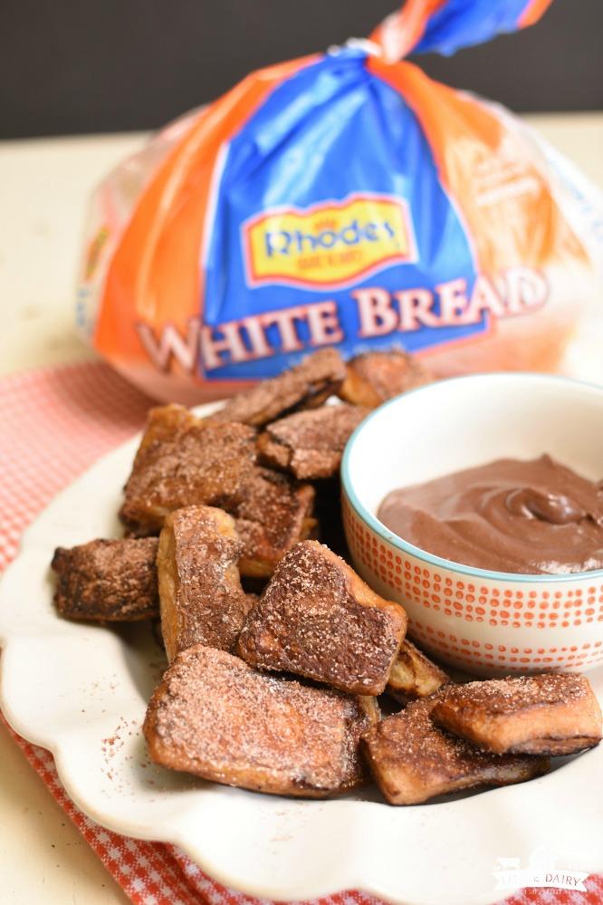 Chocolate Pretzel Bites- with Rhodes Bread