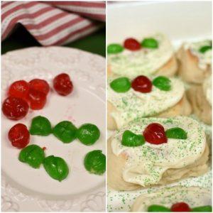 Christmas Pastries - add cherries