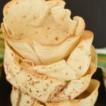 Homemade Tortilla Bows - fill them up