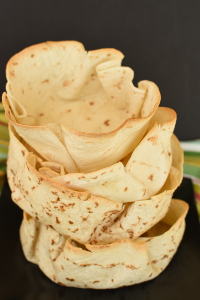 Homemade Tortilla Bows - fill them up