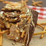 Peanut Butter Caramel Pretzel Bark