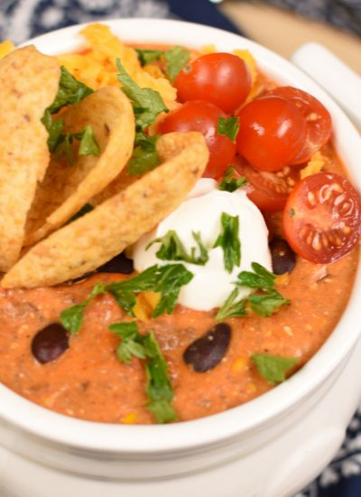 Slow Cooker Creamy Taco Soup - featured image