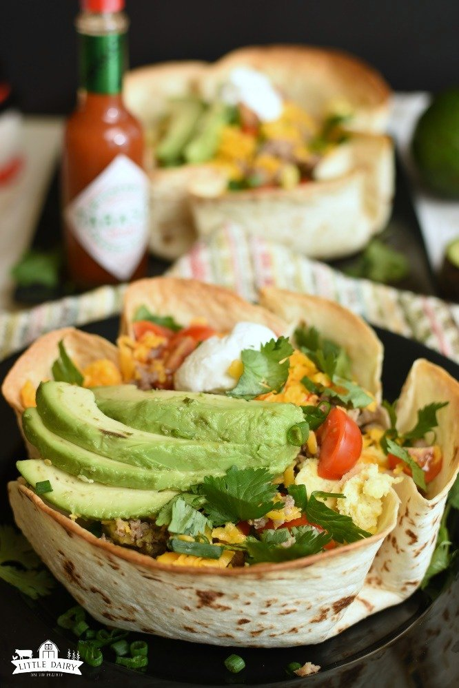 Breakfast Burrito Bowls- Mexican Flavored Breakfast