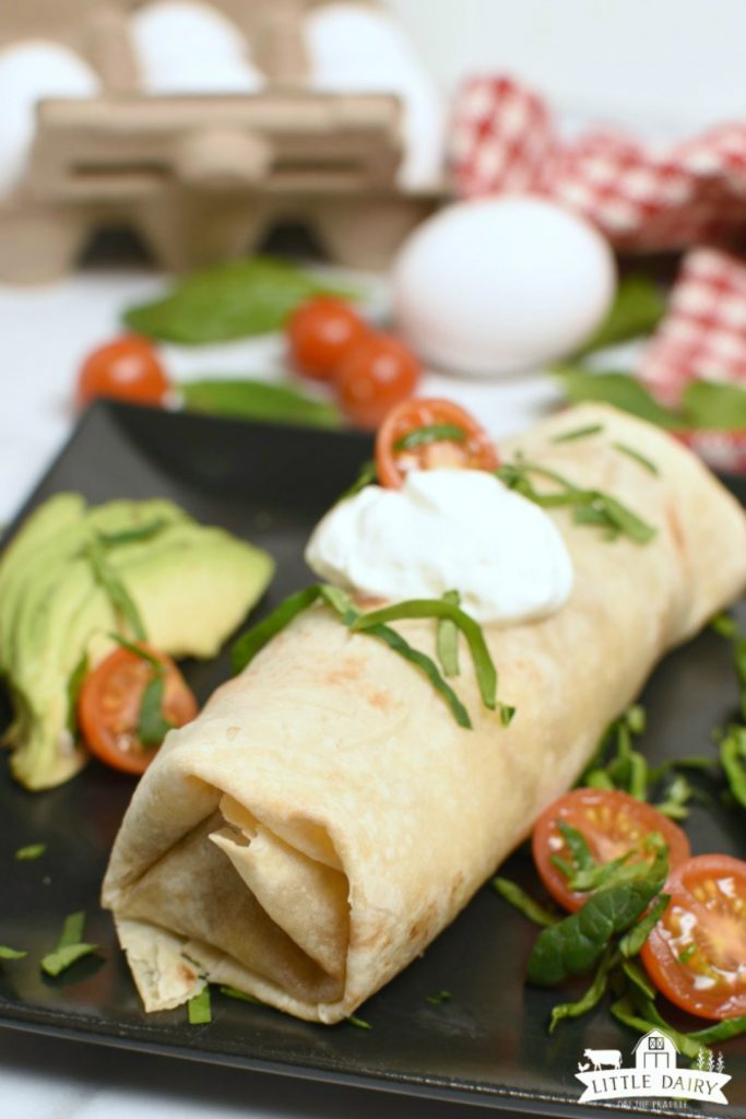 Freezer Breakfast Burritos- microwave or bake them after