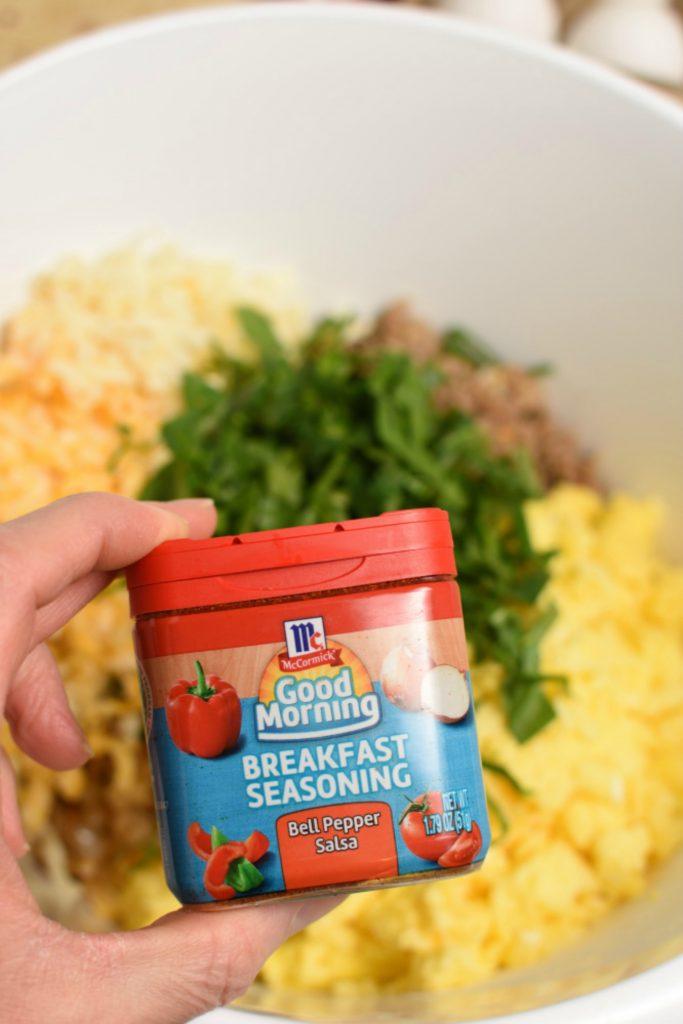 Freezer Breakfast Burritos- salsa flavoring