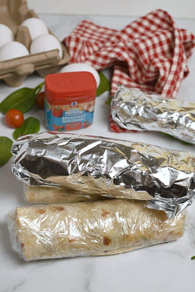 Freezer Breakfast Burritos- stick them in the freezer