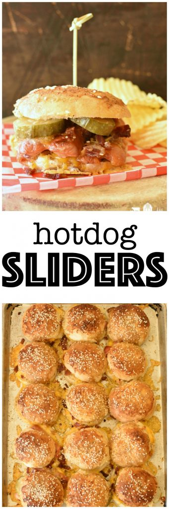 Hotdog Sliders are the ulitmate in party food! Kids go crazy for them and they couldn't be easier to make! #ad #Rhodes #frozendough