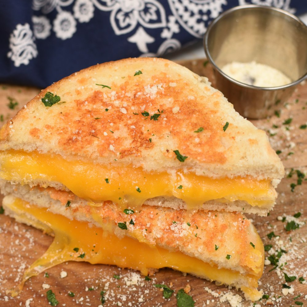 Parmesan Crusted Grilled Cheese Sandwich- featured image