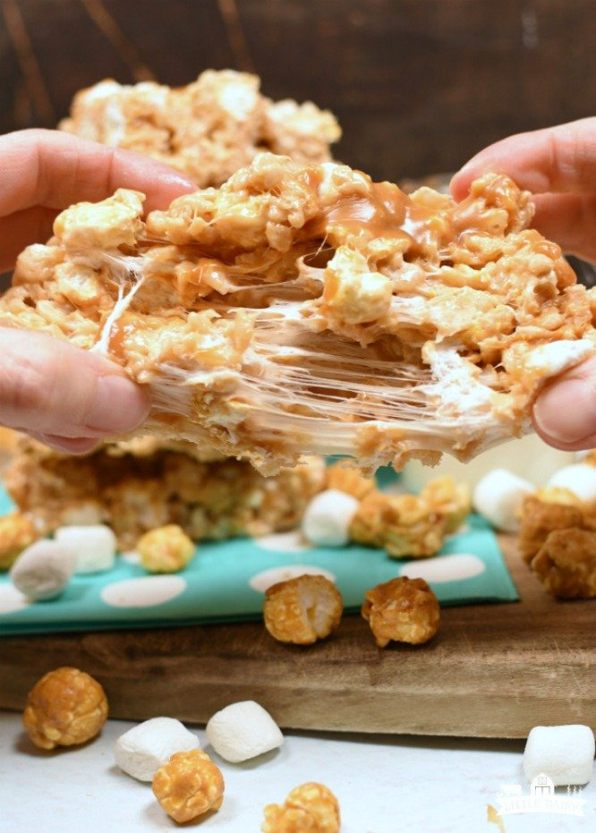 Salted Caramel Corn Krispy Treats - incredibly decadent_01