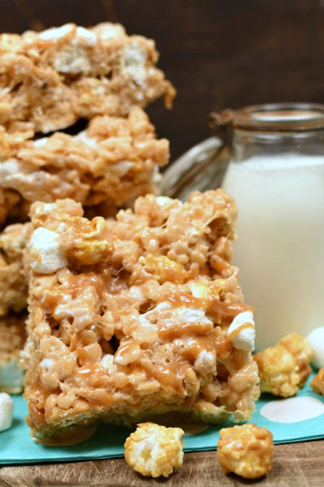 Salted Caramel Corn Krispy Treats - the ultimate quick treat