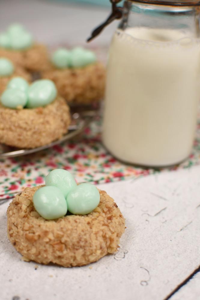 Bird's Nest Cookies - with milk